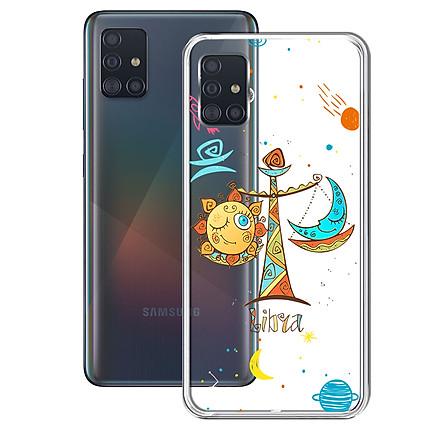 Ốp lưng Dẻo cho điện thoại Samsung Galaxy A51 - 01259 8049 LIBRA 01 - In Nổi Họa Tiết - Cung Thiên Bình - Hàng Chính Hãng