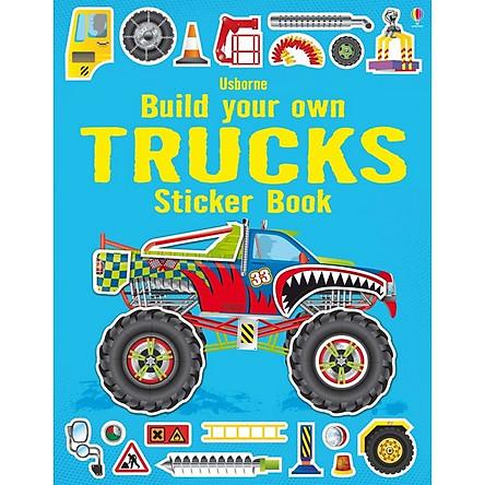 Usborne Build your own Trucks Sticker book