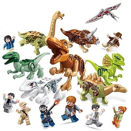 Set 8 Hộp Minifigures Khủng Long Lắp Ráp Xếp Hình Mô Hình Bầy Khủng Long Cổ Đại - Đồ Chơi Trẻ Em