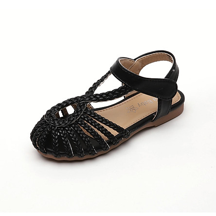 Dép sandal bé gái da mềm tết sam kiểu dáng thời trang duyên dáng full size cho bé 1 - 12 tuổi đi học đi chơi SG37