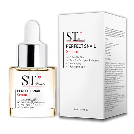 Tinh Chất Serum Ốc Sên ST Beauty: Phục hồi & Tái Tạo Da – Giảm Ngừa Mụn – Chống Lão Hóa – Se Khít Lỗ Chân Lông – ST Beauty PERFECT Snail Serum – Made in Korea