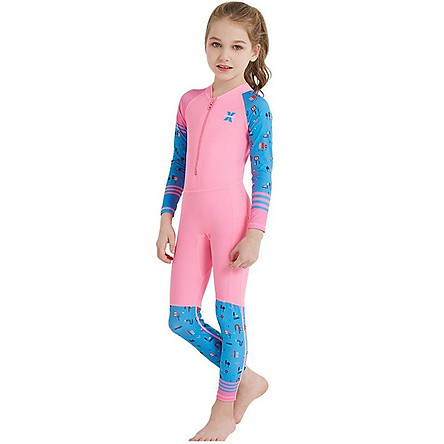 Children's Snorkeling Suit Long-Sleeved One-Piece Swinwear Upf50+ Lycra Diving Surf Clothing