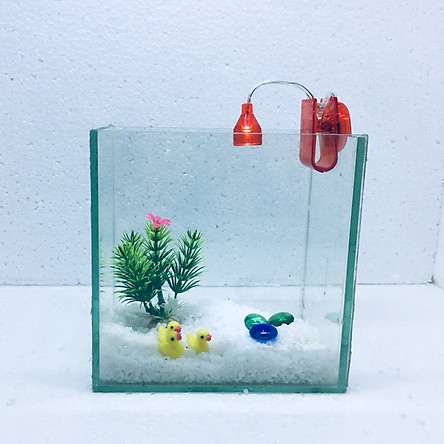 Bể cá mini để bàn 15cm có đèn