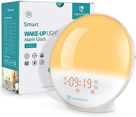 Đồng hồ báo thức thông minh kết hợp đèn ngủ và đài FM HeimVision Sunrise A80S