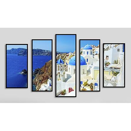 Bộ 5 tranh treo tường bằng chất liệu vải canvas, chống ẩm mốc, không bám bụi, khung trong gỗ thông chắc chắn, khung ngoài composite bền đẹp, tranh treo phòng khách kèm khung tranh trang trí, AT815