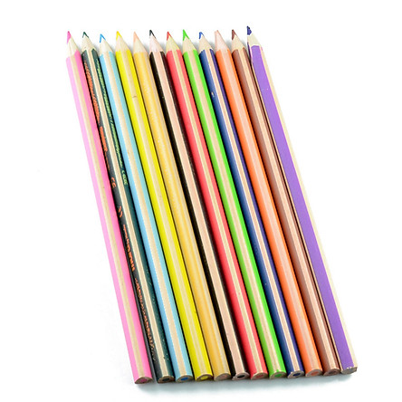 12 Color Coloring Book Professional Wooden Colored Pencil for Painting Drawing Sketch Tools Pen