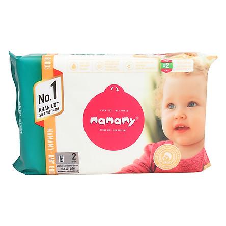 Khăn Ướt Mamamy Không Hương - Gói 30 Tờ