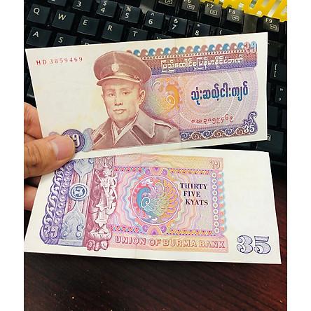 Tờ tiền mệnh giá hiếm 25 Kyat của Myanmar ngày xưa , kèm bao lì xì - The Merrick Mint