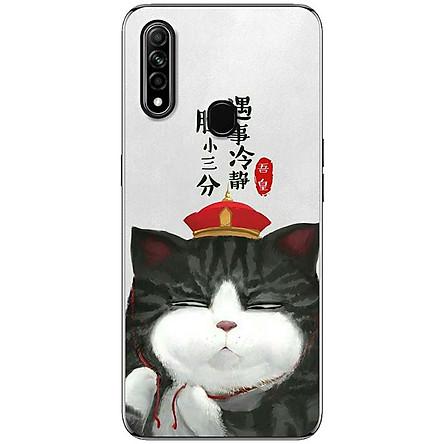 Ốp lưng dành cho Oppo A31 (2020) mẫu Mèo mặt ngu