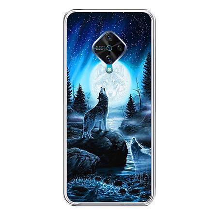 Ốp lưng dẻo cho điện thoại Vivo S1 PRO - 0485 Wolf04 - Hàng Chính Hãng