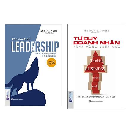 Combo 2 cuốn : Tư duy doanh nhân + Leadship Dẫn dắt bản thân và đội nhóm và tổ chức vươn xa ( tặng 1 giá đỡ iring dễ thương )
