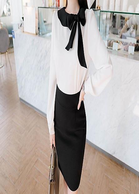 Chân Váy Công Sở Nữ Màu Đen Thời Trang