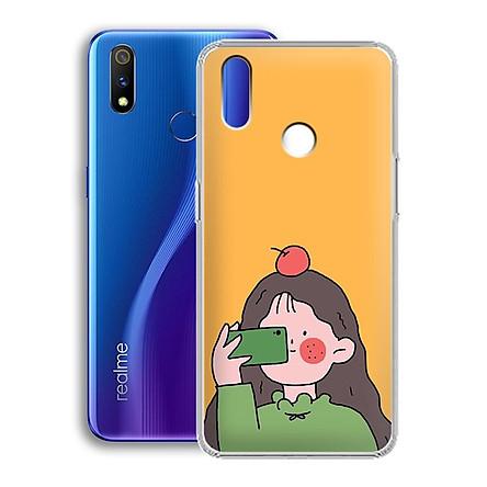 Ốp lưng dẻo cho điện thoại Realme 3 Pro - 01221 7899 GIRL01 - in hình chibi dễ thương - Hàng Chính Hãng