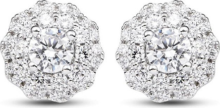 Bông tai bạc đính đá PNJSilver XMXMK000157-BO