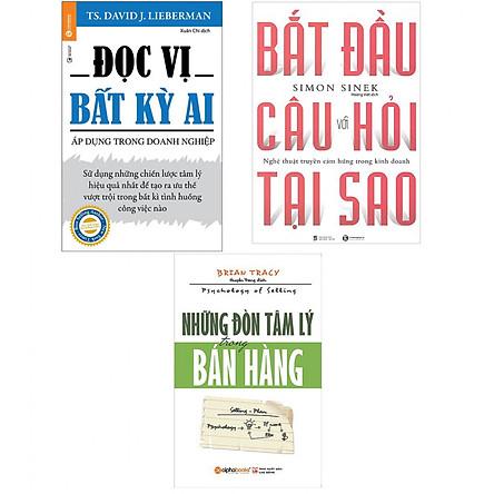 Combo Sách Kĩ Năng Những Đòn Tâm Lý Trong Bán Hàng (Tái Bản 2018) + Bắt Đầu Với Câu Hỏi Tại Sao? ( Tái Bản ) + Đọc Vị Bất Kỳ Ai - Áp Dụng Trong Doanh Nghiệp