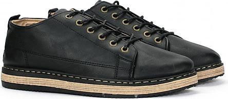 Giày Bốt chỉ nam cổ thấp Màu Đen