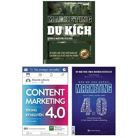Combo Chiến Lược Marketing : Marketing du kích - 30 Chiến Lược Thực Chiến Mạnh Mẽ Tạo Động Lực Và Kết Quả Phi Thường + Content Marketing Trong Kỷ Nguyên 4.0 + Bán Mà Như Không Marketing Thực Chiến Trong Thời 4.0 ( Tặng Kèm Bookmark Thiết Kế )