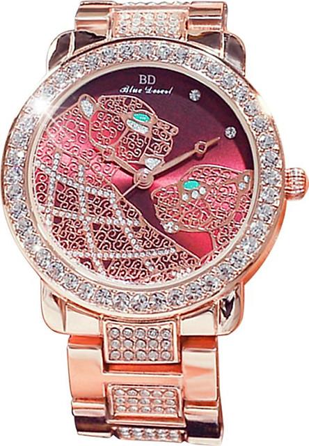 Women Fashion Watch Alloy Case Band Analog Wrist Watch Glittering Diamond Quartz Watch
