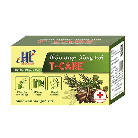 Thảo dược Xông hơi T-Care 90gr (Giải cảm, hạ sốt - Cải thiện tuần hoàn máu, giảm mệt mỏi cho người mới ốm dậy, phụ nữ sau sinh - Bài trừ độc tố, thanh lọc cơ thể)