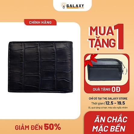 Ví Nam Bóp Nam Da Bò Dập Vân Cá Sấu Cao Cấp Galaxy Store GVN14 - Hàng Chính Hãng
