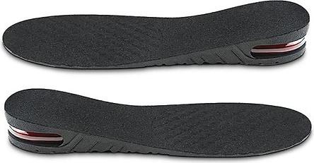 Lót giày tăng chiều cao không khí nguyên bàn 1 lớp cao 3 cm (Màu Đen)