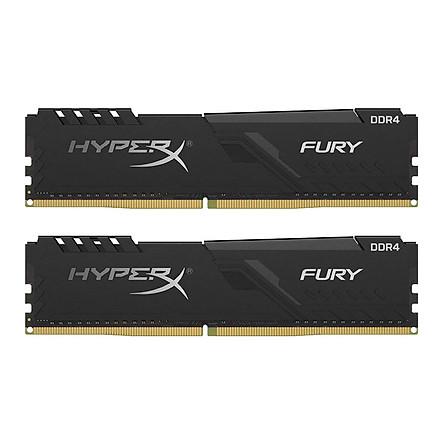 Ram PC Kingston HyperX Fury Black 16GB (2x8GB) Bus 2666 DDR4 CL16 DIMM XMP Non-ECC HX426C16FB3K2/16 - Hàng Chính Hãng
