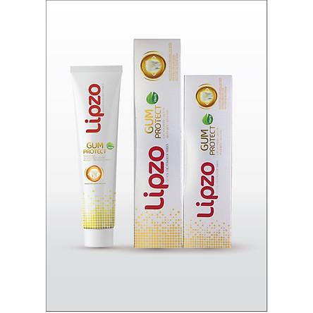Bộ 2 Kem Đánh Răng-  Lipzo Gum Protect 185g và Lipzo Gum Protect 95g  tinh chất thiên nhiên