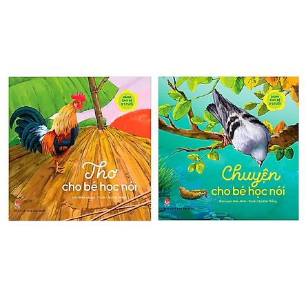 Combo sách tập nói: Thơ cho bé tập nói và  Chuyện Cho Bé Học Nói