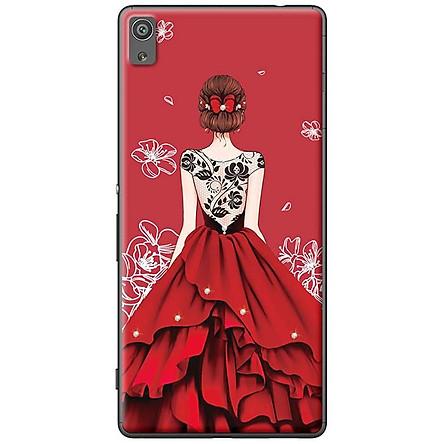 Ốp Lưng Dành Cho Sony X Cô gái váy đỏ áo đen