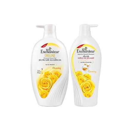 Combo Dầu Gội và Sữa tắm nước hoa Enchanteur Charming 650g/Chai