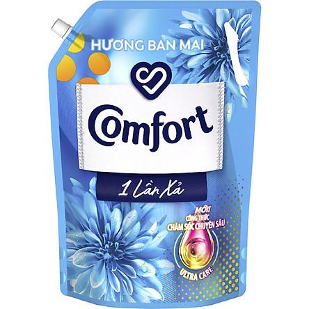 Nước Xả Làm Mềm Vải Comfort Chăm Sóc Chuyên Sâu Đậm Đặc Một Lần Xả Hương Ban Mai Túi 2.8L