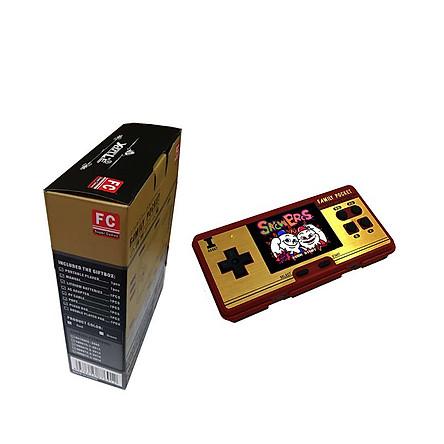 Máy chơi game cầm tay mini Promax Family Pocket FC NES màu đỏ và trắng cùng 638 trò chơi - Hàng chính hãng