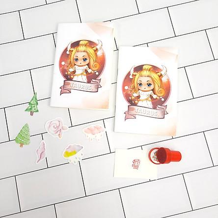 Bộ Sưu Tập Cá Tính Cung Hoàng Đạo Gồm 2 Sổ Tay Và 1 Con Dấu Tặng Kèm 6 Sticker Mini Mẫu Ngẫu Nhiên - Kim Ngưu