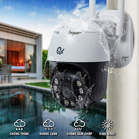 Camera Ip Wifi Ngoài Trời CareCam CC8031 Xoay 360 Độ 3.0MP Full HD 1536P - Hàng Chính Hãng