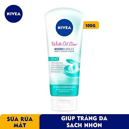 Sữa rửa mặt NIVEA White Oil Clear giúp trắng da sạch nhờn (100g) - 84951