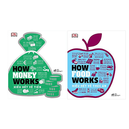 Combo 2 Cuốn How Money Works - Hiểu Hết Về Tiền + How Foosd Works Hiểu Hết Về Thức Ăn