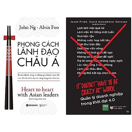 Combo 2 Cuốn: Phong Cách Lãnh Đạo Châu Á + Quản Lý Doanh Nghiệp Trong Thời Đại 4.0