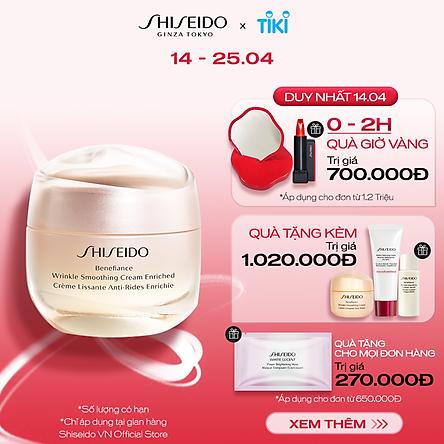 Kem dưỡng da chống lão hóa giàu ẩm Shiseido Benefiance Wrinkle Smoothing Cream Enriched 50ml