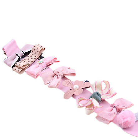 Baby Girls Sweet Bowknot Hair Clip Bow Flower Barrettes Party Kids Hairpins Headwear 10Pcs/set