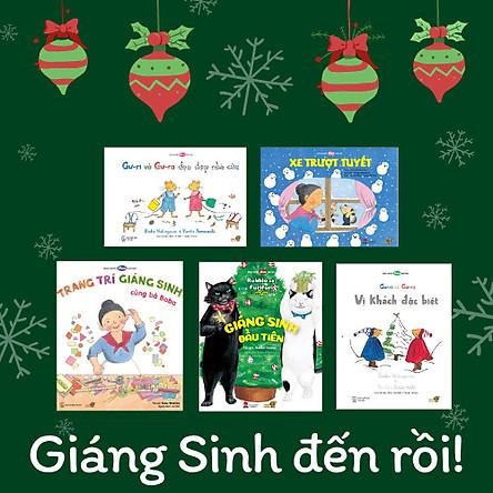 Combo 5 cuốn Ehon chủ đề Giáng Sinh ngộ nghĩnh cùng bé : Gư-ri và Gư-ra Vị khách đặc biệt, Gư-ri và Gư-ra Dọn dẹp nhà cửa, Trang trí Giáng sinh cùng bà Baba, Giáng sinh đầu tiên, Xe trượt tuyết