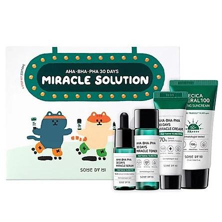 Bộ Sản Phẩm Dưỡng Da Some By Mi AHA-BHA-PHA 30 Days Miracle Solution 4-Step Kit-Edition