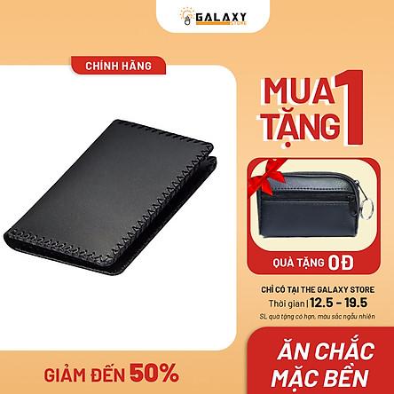 Ví Nam Handmade Da Bò Galaxy Store Galaxy Store GVM03 - Đen (8.5 x 11.5 cm)