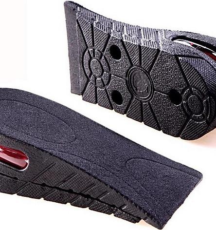 Lót Giày Tăng Chiều Cao Không Khí Nửa Bàn 2 Lớp (5cm) - Đen