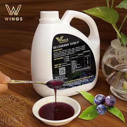 Si rô hương vị việt quất Wings dùng pha chế Coffee, Iced tea, Milkshakes, Cocktails, Soda ... trọng lượng 2,5 kg