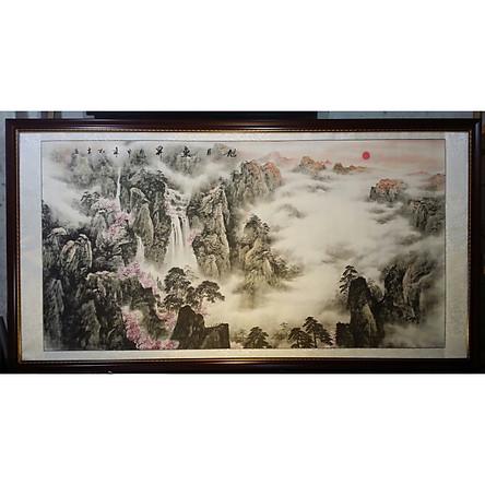 Tranh thủy mặc, Non nước hữu tình ( tưa núi thái sơn)-TM46