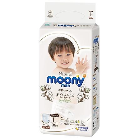 Tã Quần Moony Natural Bông Organic L36 (36 Miếng)