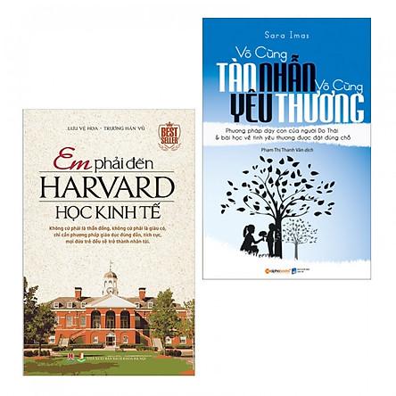 Combo Em Phải Đến Harvard Học Kinh Tế + Vô Cùng Tàn Nhẫn Vô Cùng Yêu Thương (Tặng Bookmark Thiết Kế Aha)