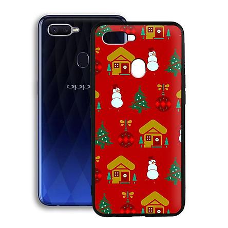 Ốp lưng mẫu đẹp cho điện thoại Oppo F9 - Viền dẻo - 02064 7948 XMAS12 - Hàng Chính Hãng