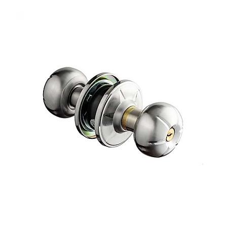 Ổ khóa cửa tay nắm tròn Huy Hoàng Con Voi EX02 cao cấp làm từ hợp kim inox màu bạc, lõi khóa đồng vàng, chìa vi tính, dành cho cửa thông phòng, cửa vệ sinh