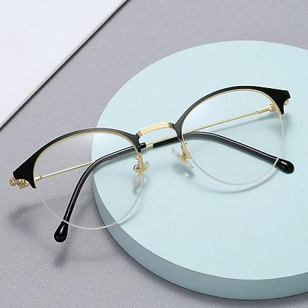 Kính mắt thời trang CITAS giả cận gọng kim loại mảnh form tròn MK555 sang chảnh phù hợp với nam nữ